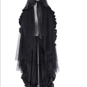 Steampunk Costume Ruffle Burlesque Skirt